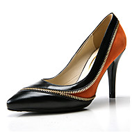 رخيصةأون -نسائي فرو ظبي / جلد ظبي ربيع & الصيف الأعمال التجارية كعوب كعب ستيلتو حذاء براس مدبب برتقالي / أخضر / ألوان متناوبة