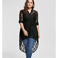 Women's A Line Dress - Solid Colored Lace Black XXXL XXXXL XXXXXL