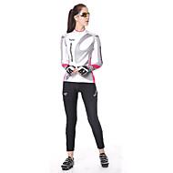 여성용 싸이클 타이즈 자전거 바지 하단 통기성 3D 패드 스포츠 쿨맥스® 블랙 산악 자전거 로드 사이클링 의류 자전거 의류