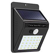 1pc 5 W Solar Wall Light Vanntett / Motion Detection Monitor Hvit 3.7 V Utendørsbelysning / Courtyard 30 LED perler