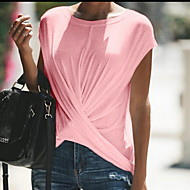 Női Extra méret Póló - Egyszínű Fekete XXXL