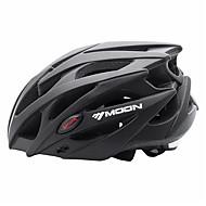 MOON ผู้ใหญ่ หมวกกันน็อคจักรยาน 21 Vents ทนต่อการอัด น้ำหนักเบา การระบายอากาศ กำไรต่อหุ้น พีซี กีฬา จักรยานปีนเขา Road Cycling ปั่นจักรยาน / จักรยาน - สีดำ / หมวกกันน็อกจักรยานแบบชิ้นเดียว