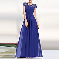 cheap -Women's Party Elegant Maxi Swing Dress - Solid Colored Backless Lace Gray Wine Royal Blue L XL XXL