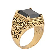 Men's Ring Signet Ring Resin Ring Jewelry Black / Red / Gold / Black For Birthday Gift Daily