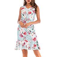 Kadın's Temel Kombinezon Elbise - Geometrik, Kırk Yama Diz üstü