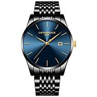 Муж. Нарядные часы Японский Кварцевый Нержавеющая сталь Черный / Серебристый металл / Золотистый 30 m Защита от влаги Календарь Секундомер Аналоговый Мода минималист -  / Два года