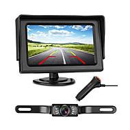 772 4 tommers TFT-LCD 480TVL 480 TV-Lines 1/4 tommers høyoppløselig farge CMOS Med ledning 170 grader 1 pcs 135 ° 4.3 tommers Bakside Kamera / Bilomvendende skjerm LED-indikator / Plug and play