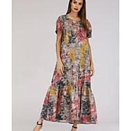 Dámské Bavlna Štíhlý A Line Šaty Maxi