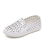 בנות נעליים דמוי עור קיץ נוחות נעליים ללא שרוכים ל ילדים / מתבגר לבן / שחור / ורוד