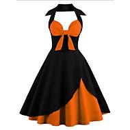 Women's Basic Swing Dress - Solid Colored Orange Red Royal Blue XXXL XXXXL XXXXXL