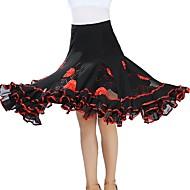 ボールルームダンス ボトムズ 女性用 訓練 / 性能 チュール ビーズ / ゴア ナチュラルウエスト スカート