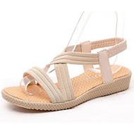 Women's PU(Polyurethane) Summer Sandals Flat Heel Beige / Red / Blue