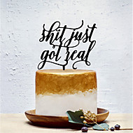 Cake Topper Classic Theme / Creative / Wedding Artistic / Retro / Unique Design Acrylic Wedding / Birthday with Solid 1 pcs OPP