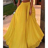 Γυναικεία Κούνια Κομψό στυλ street Μακρύ Φούστες - Μονόχρωμο