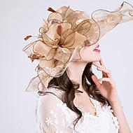 オーガンザ 帽子 とともに フラワー / ラッフル 1個 結婚式 / スポーツ かぶと