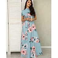 Mujer Corte Swing Vestido Floral Maxi
