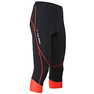 baratos -TASDAN Mulheres Bermudas Acolchoadas Para Ciclismo Moto Shorts 3/4 calças justas Shorts Acolchoados Respirável Tapete 3D Secagem Rápida Esportes Branco / Vermelho / Azul Ciclismo de Estrada Roupa