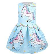 Kids Girls' Basic Cartoon Sleeveless Midi Polyester Dress Blushing Pink