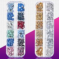 1 pcs Bedste kvalitet Metallegering Rhinsten Til Fingernegl Mode Kreativ Negle kunst Manicure Pedicure Daglig Mode / Farverig