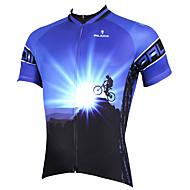 halpa -ILPALADINO Miesten Lyhythihainen Pyöräily jersey Keltainen Punainen Sininen Pyörä Jersey Topit Hengittävä Nopea kuivuminen Ultraviolettisäteilyn kestävä Urheilu Polyesteri 100% polyesteri Teryleeni