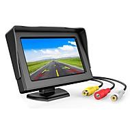 Muzili 4.3 inç tft lcd monitör araba dikiz tam renkli ekran 2-kanalları video girişleri görsel ters