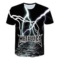 Tee-shirt Homme, 3D Basique Arc-en-ciel XXL