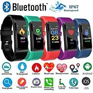 olcso -id115 plusz színes képernyő okos karkötő sport pedométer óra fitness futás séta tracker pulzusszámmérő intelligens sáv