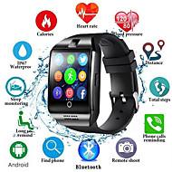 billige -q18s smart klokke menn støtter tf sim kort push melding svar ringe treningssporing bluetooth smartwatch for android telefon