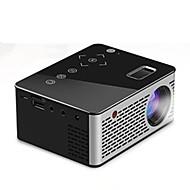 billige -unic t200 mini bærbar projektor hjemme hd barns hjemmekino projektor multimedie spiller kompatibel hdmi / usb / dc / av / tf kort svart