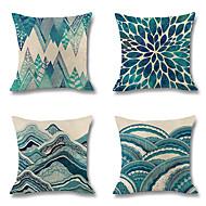 povoljno -4.0 kom Posteljina Navlaka za jastuk, Damast Pomorski Chic & Moderna Mediterranean Baci jastuk