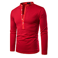 זול -אחיד בסיסי Polo - בגדי ריקוד גברים טלאים שחור / לבן / אדום שחור