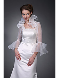 cheap -Half Sleeve Polyester Party / Evening Wedding  Wraps / Women's Wrap With Embroidery Coats / Jackets