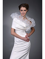 cheap -Sleeveless Satin  Organza Bridal Jacket / Wedding Wrap (WSM0415)