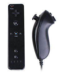 cheap -Remote and Nunchuk Controller + Case for Wii/Wii U (Black)