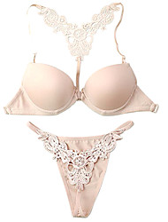 cheap -Cotton Demi Cup Adjustable Straps Front Closure Wedding/ Party Underwear Set More Colors Available