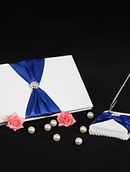 Guest Book Pen Set Satin Beach ThemeWithBow Wedding Ceremony Beautiful