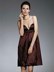 Fourreau / Colonne Sans Bretelles Coeur Courte / Mini Satin Soirée Cocktail Retour Robe avec Billes par TS Couture®