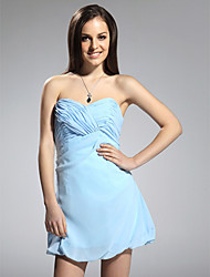 Sheath / Column Strapless Sweetheart Short / Mini Chiffon Cocktail Party Homecoming Dress with Criss Cross by TS Couture®