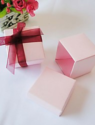 cheap -Cubic Card Paper Favor Holder With Favor Boxes-24 Wedding Favors
