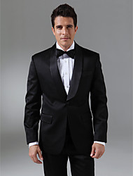 Tuxedos Tailored Fit Shawl Collar Single Breasted One-button Wool & Polyester Blended Solid