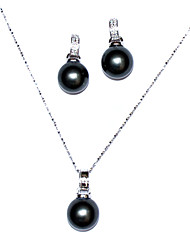 cheap -Women's Black Pearl Jewelry Set - Gold Include For Party Anniversary Birthday / Gift / Daily / Earrings / Necklace