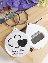 Plástico Favors Chaveiros-12 Piece / Set Chaveiros Tema Clássico Personalizado Branco Preto