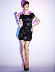 Sheath / Column Bateau Neck Short / Mini Sequined Cocktail Party Homecoming Holiday Sweet 16 Dress with Beading by TS Couture®
