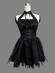 baratos -Gótica Punk Princesa Punk Mulheres Vestidos Cosplay Sem Manga Comprimento Curto