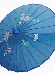 Soie Ventilateurs et parasols Pièce / Set Parasols Thème de jardin Thème asiatique Bleu Hauteur : 48cm   Diamètre : 82cm 48cm de haut