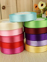 cheap -Solid Color Satin Wedding Ribbons Piece/Set Satin Ribbon Decorate favor holder Decorate gift box