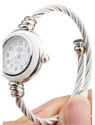 Quartz Watch with Metal Rope Watch Strap - White Face