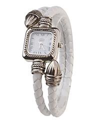 Mujer Reloj de Moda Reloj Pulsera Cuarzo PU Banda Blanco