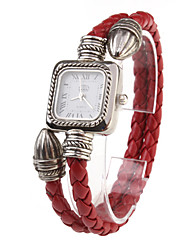 PU Rope Band Quartz Bracelet Watch For Women(Red) Cool Watches Unique Watches