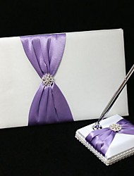cheap -Guest Book Pen Set Satin Garden ThemeWithBow Wedding Ceremony
